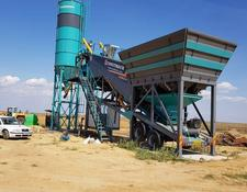Constmach 60 m3/h MOBILE CONCRETE PLANT, WITH BUILT-IN TYPE CEMENT SILO