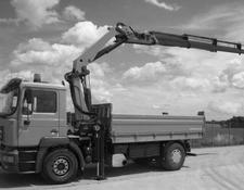 MAN 18.414 with Palfinger crane